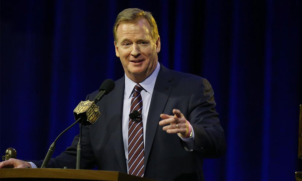 NFL: Super Bowl 50-Commissioner Roger Goodell Press Conference